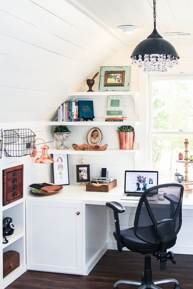 Transforming An Unused Attic Into An Amazing Office Space Attic Renovation Attic Bedroom Small Attic Spaces