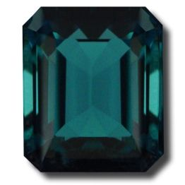 A gorgeous Blue-Green Tourmaline Emerald Cut, lovely dusky blue/green color with bright flashes. A very striking stone.