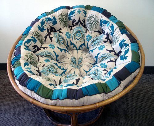 OMG Lurve this! Peacock Papasan Chair  Overstuffed Chair Cushion