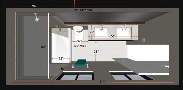 Standard Bathroom Dimensions Knowing A Few Key Measurements Like