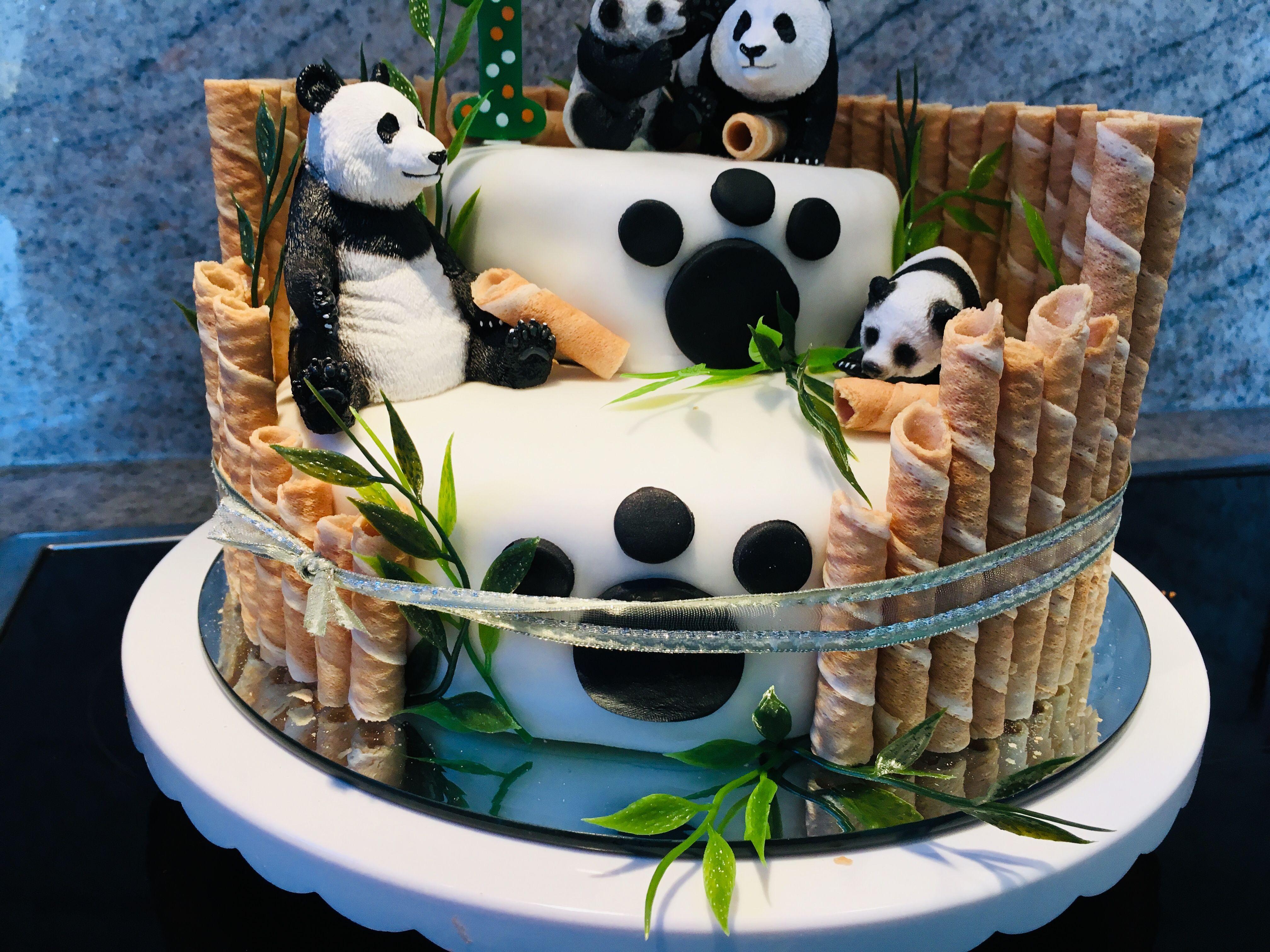 Panda Cake Geburtstagskuchen Kinder Panda Geburtstagstorte Panda Kuchen