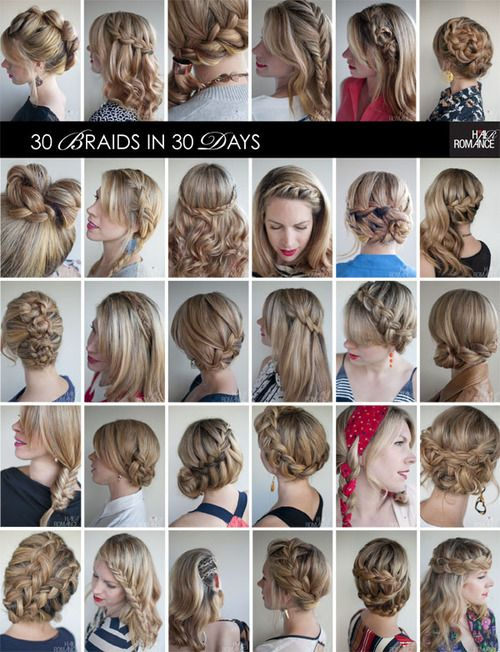 Hair Romance 30 Braids In 30 Days Collage Title Large Hair Styles Hair Romance Curly Hair Styles