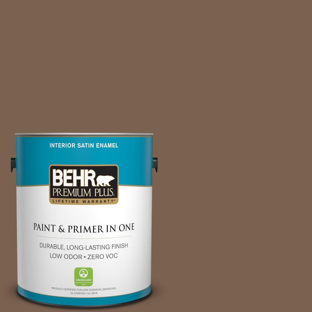 BEHR Premium Plus 1-gal. #N260-7 Folk Guitar Satin Enamel Interior Paint