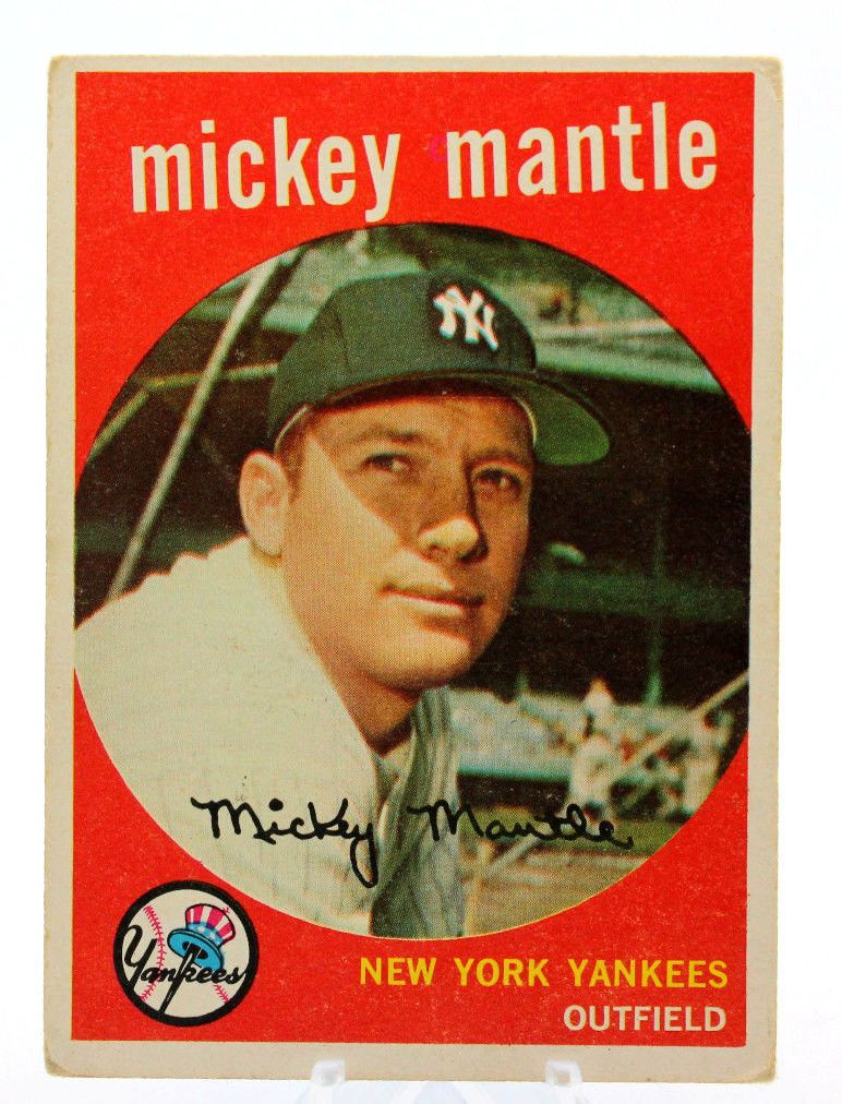 Mickey Mantle New York Yankees 1959 Topps Baseball Card