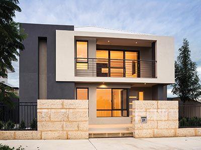 Fachadas casas modernas dos pisos peque as y grandes for Casas modernas y grandes
