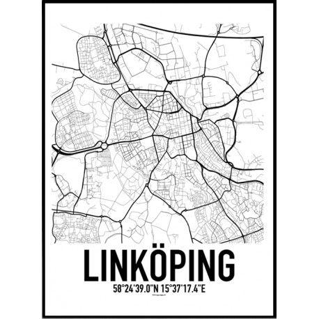Linkoping Karta Poster Hitta Dina Posters Online Hos Planscher