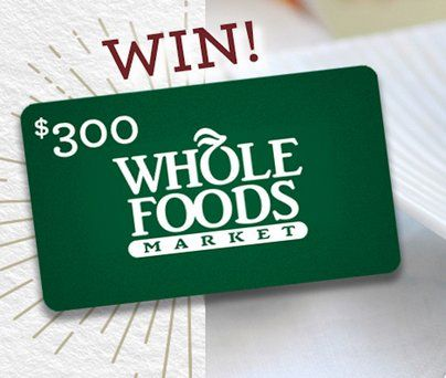 Grand Prize: A $300.00 gift card to Whole Foods Market; and an Earth ...