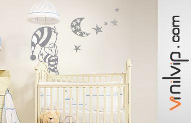 Vinilo infantil pijama y estrellas bebes pinterest for Sticker habitacion infantil