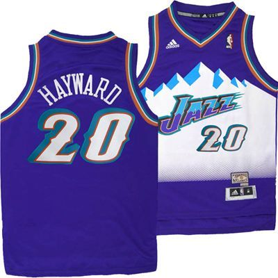 fc363547 Utah Jazz Adidas NBA Gordon Hayward #20 Youth Hardwood Classics Swingman  Jersey (Purple)