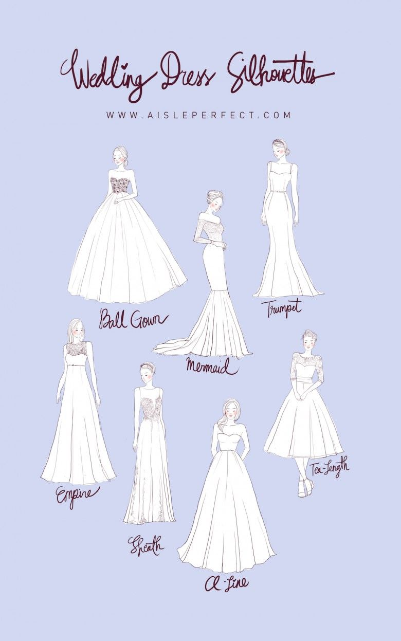 planning 101: wedding dress silhouettes | wedding dress