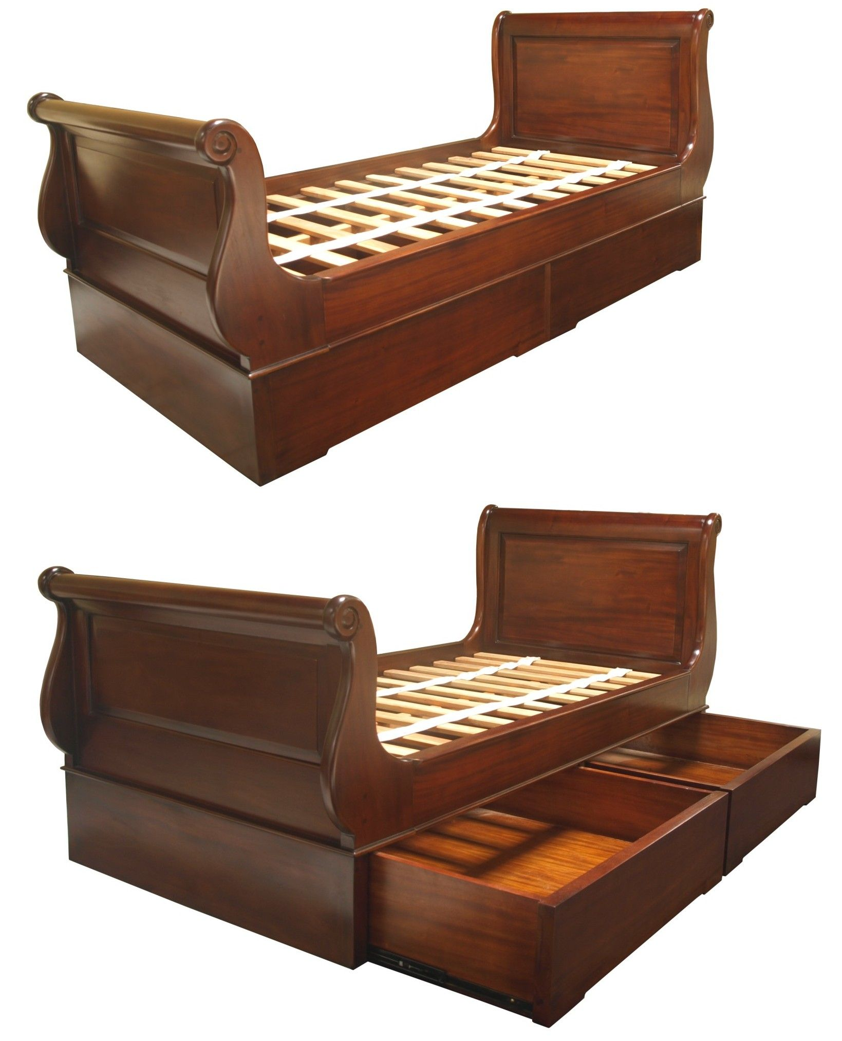 - Sleigh Beds With Storage Sleigh Beds, Bed Design, Wooden Sleigh Bed