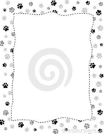 Dog Paw Print Border Template Animal Paw Prints Printable