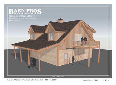 Barns With Living Quarters Denali Barn Barn Pros In 2020 Barn Apartment Barn Plans Barn With Living Quarters