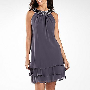 S L Fashions Beaded Tiered Dress Jcpenney What Do We Think Of