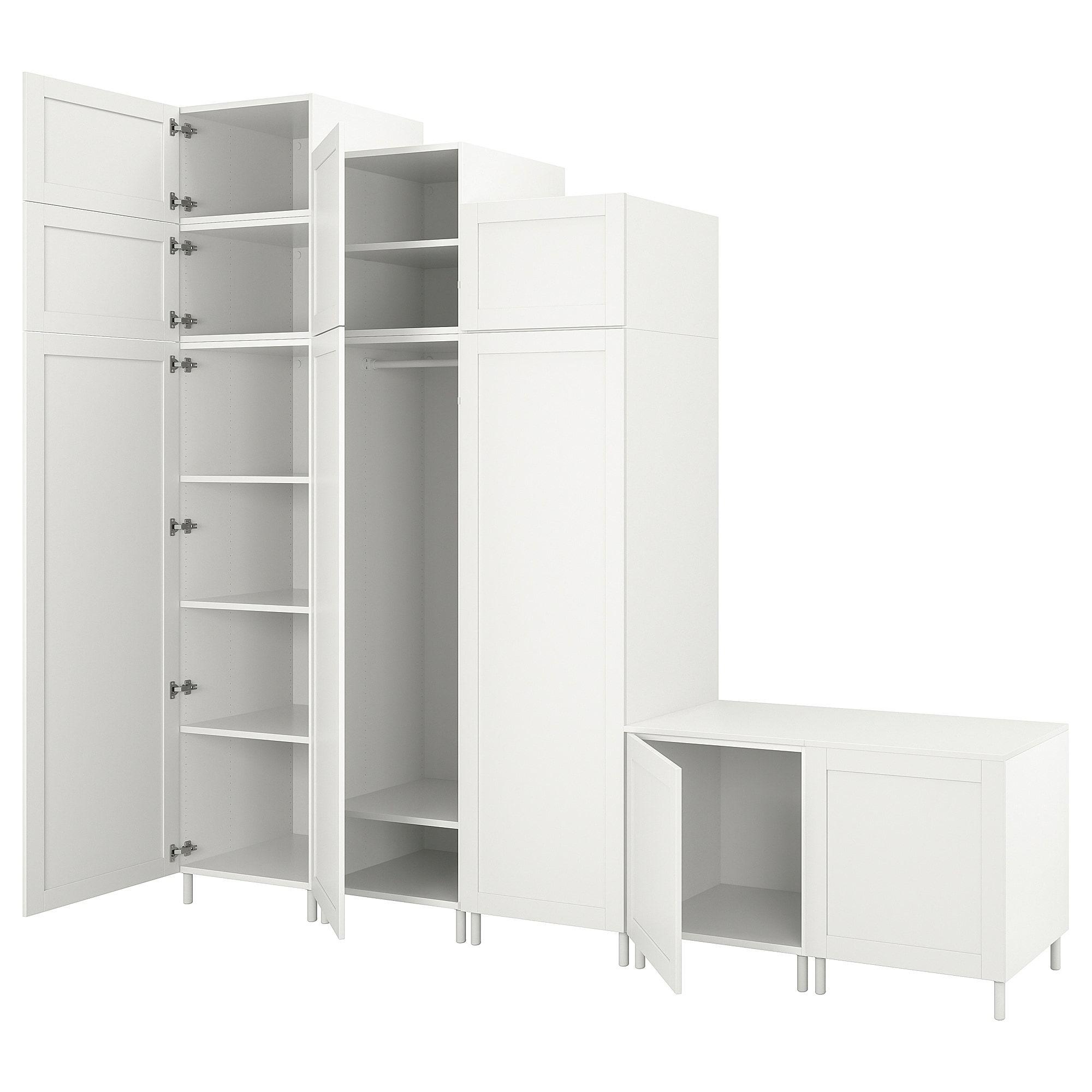 Platsa Kleiderschrank Mit 9 Turen Weiss Sannidal Weiss Ikea