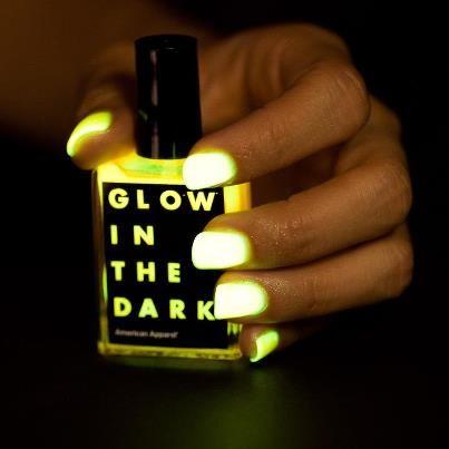 A perrrttyyy nail polish!! <3  #nailpolish #neon #glowinthedark