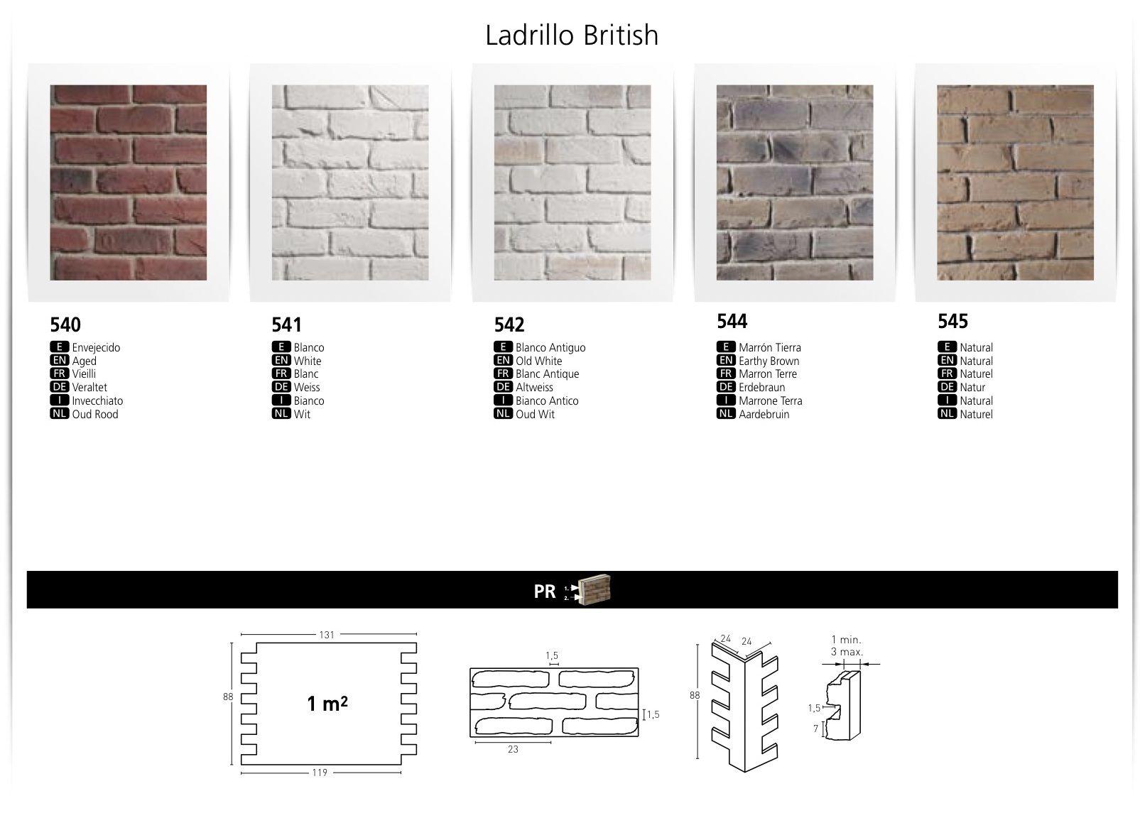 LADRILLO BRITISH FAUX BRICK WALL BOARDS