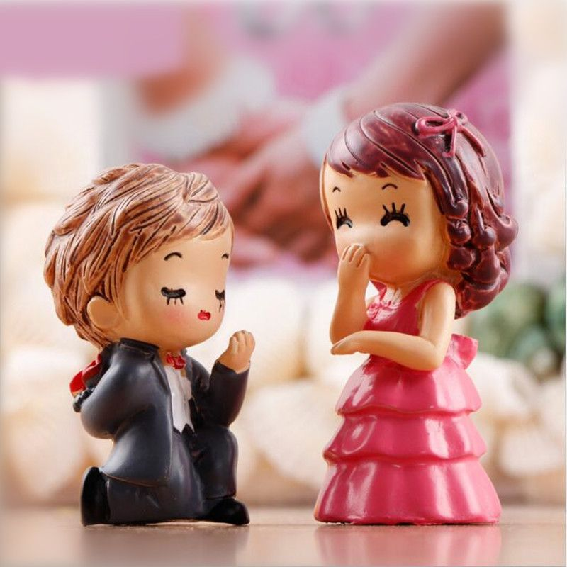 Micro Landscape Wedding Couples Figurines Valentine/'s Day Miniature Lovers