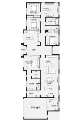 The Davenport Home Browse Customisation Options Metricon Narrow House Designs House Blueprints House Floor Plans