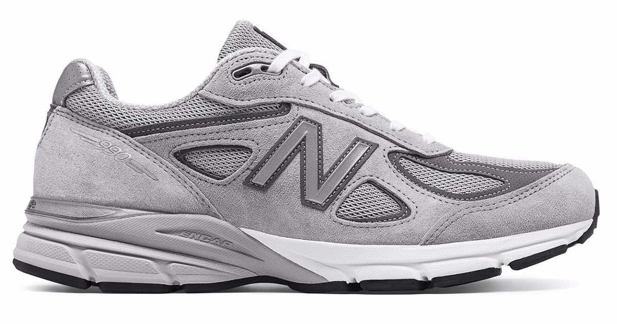 990 Made in the USA Gray Castle Rock Mens Running Sneaker New Balance M990GL4