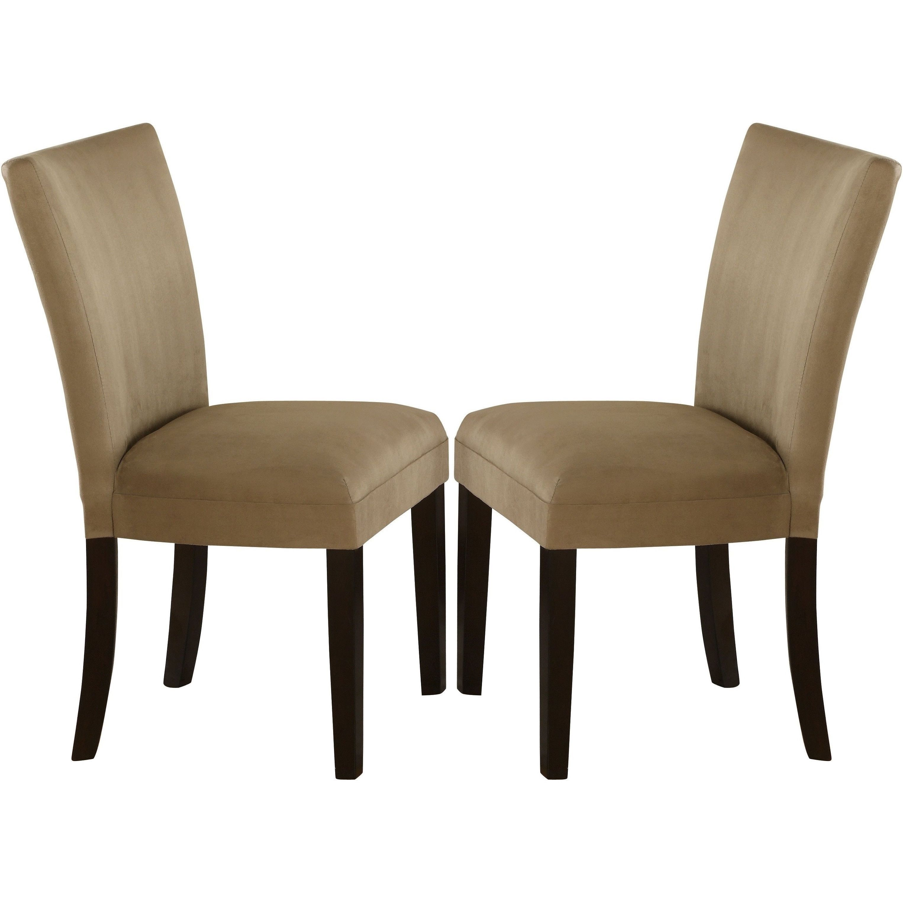 Mirage Microfiber Parson Dining Chairs Set Of 2 Honey