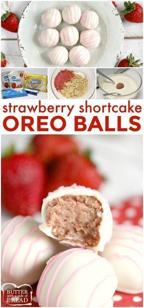 Strawberry Shortcake Oreo Balls are made with just 4 ingredients with no baking required! Made in just a few minutes with freeze dried strawberries and Golden Oreo cookies! #oreos #goldenoreos #oreoballs #strawberries #recipe #yummy #nobake #easyrecipe BUTTER WITH A SIDE OF BREAD #freezedriedstrawberries Strawberry Shortcake Oreo Balls are made with just 4 ingredients with no baking required! Made in just a few minutes with freeze dried strawberries and Golden Oreo cookies! #oreos #goldenoreos # #freezedriedstrawberries