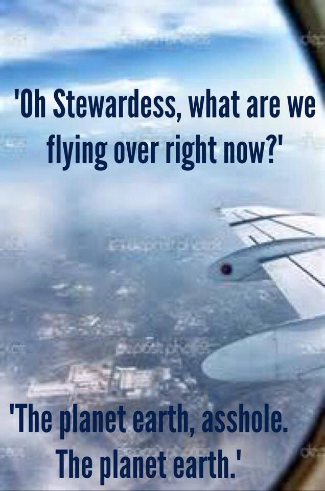 And by the way, we are called flight attendants. Not ...