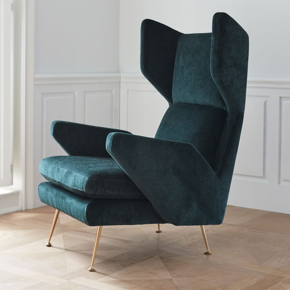 Marcelle midcentury wing chair home decor mid century