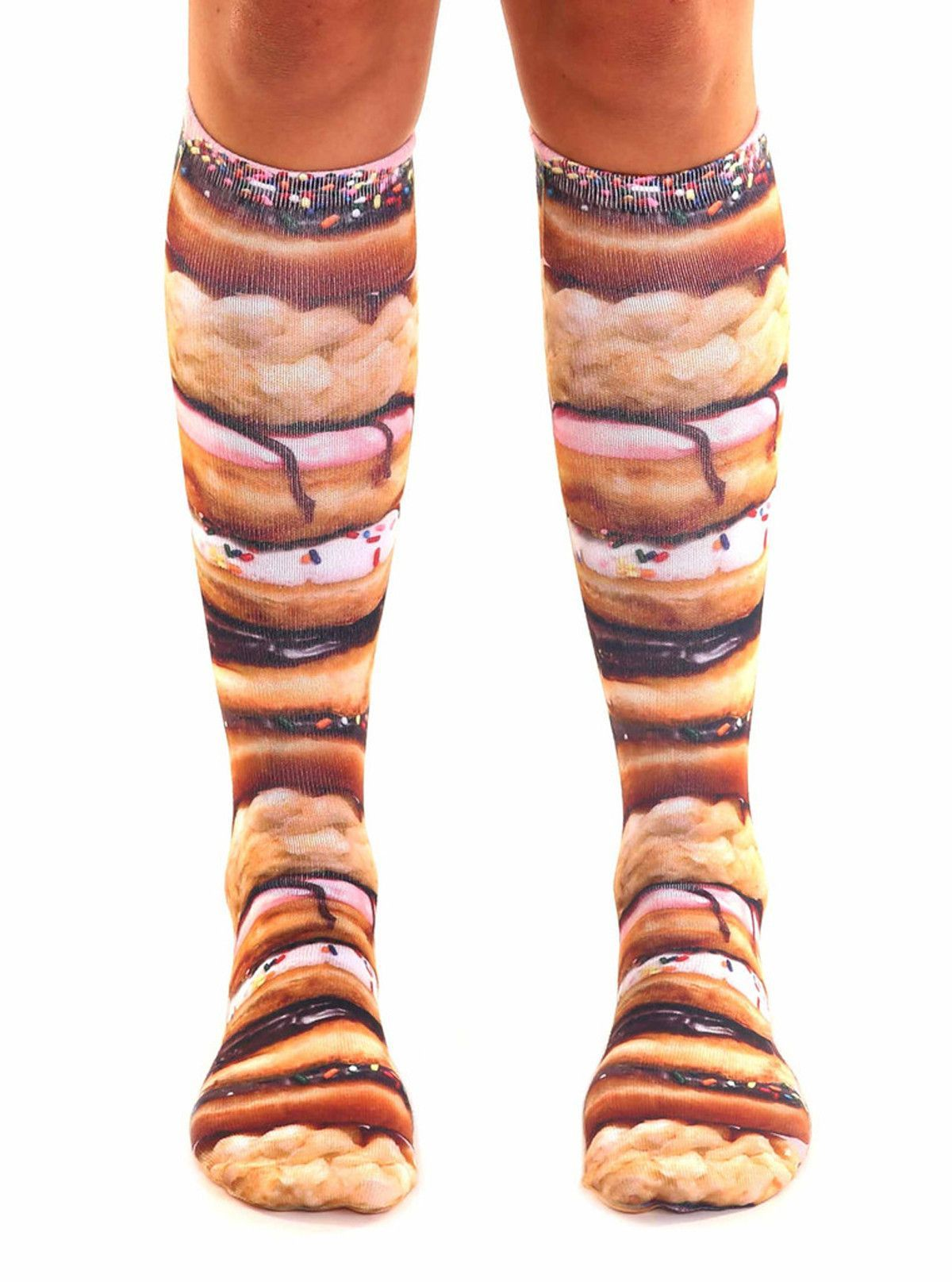 deb6fb51dd7 Stacked Donuts Photo Print Knee High Socks