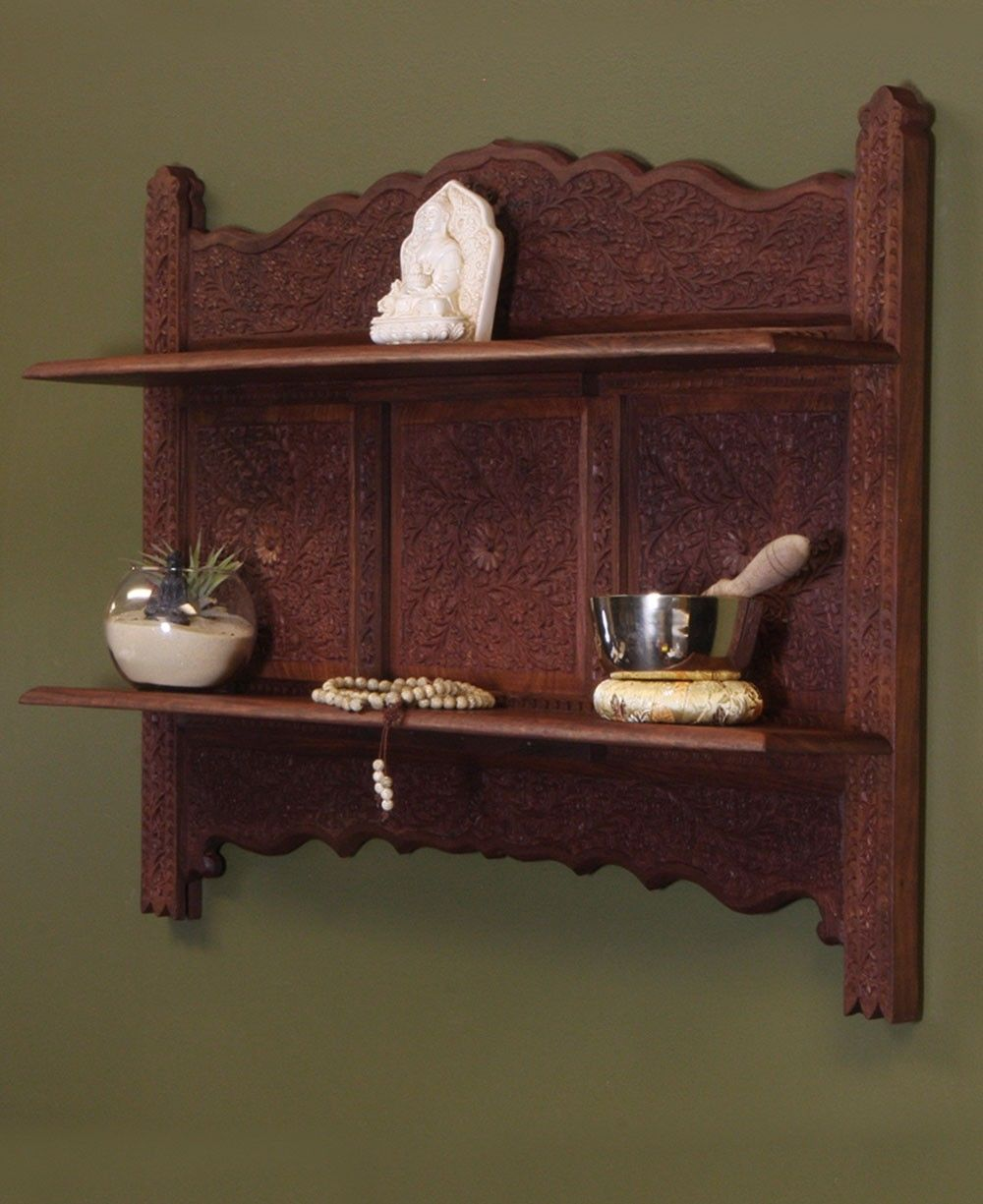 Hand Carved Wood Wall Mount | Indian Home Decor | Decorative Wall Mount