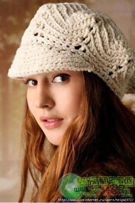 Crochet beret ♥LCH♥ with diagram | Crochet | Pinterest | Stricken ...
