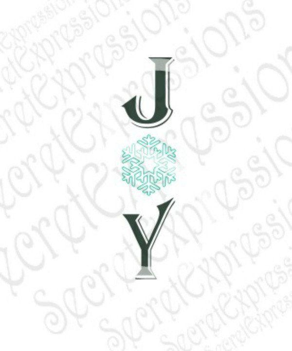 Download Joy Svg, Snowflake, Christmas, Winter, Digital SVG File ...