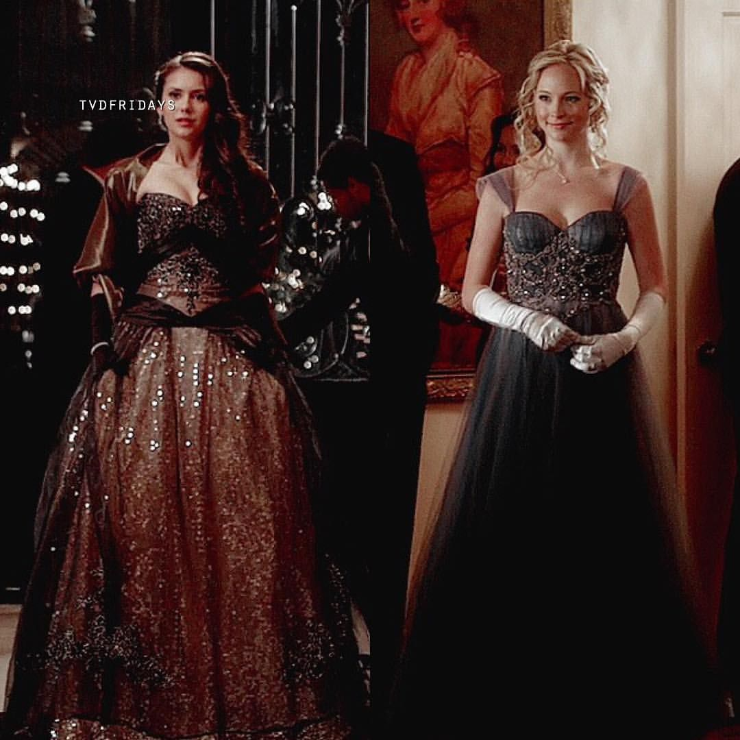 3x14 Their Dresses Are So Freaking Beautiful Vampire Dress Dresses Caroline Dress [ 1080 x 1080 Pixel ]