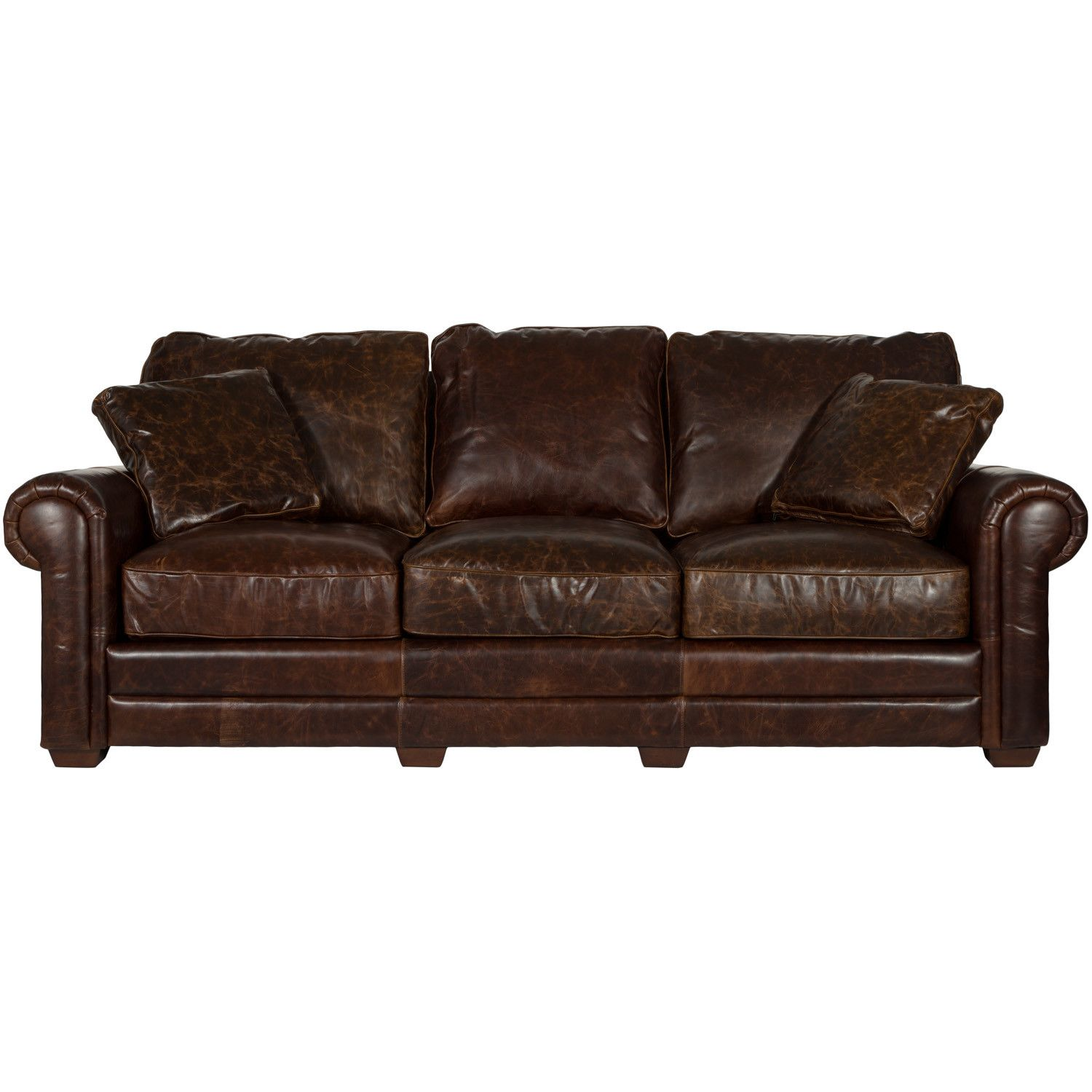 Astoria Grand Belfield Leather Sofa | Man Decor | Leather sofa, Sofa ...