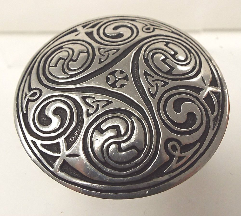 brooch silver jewellery scottish celtic ml large bird double