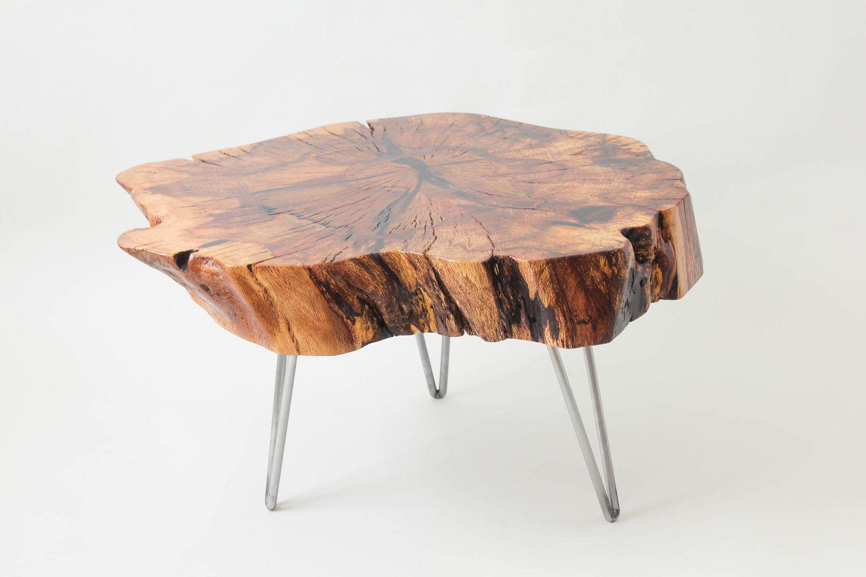Coastal Live Oak Coffee Table Live Edge Salvaged Oak Steel Hairpin Legs Walnut Dovetail Keys Coffee Table Oak Coffee Table Table [ 1000 x 1500 Pixel ]