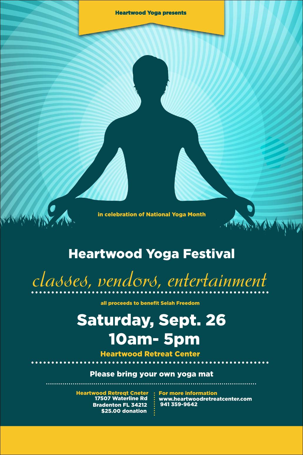 Yoga Meditation Poster Yoga Poster Yoga Flyer Yoga Festival