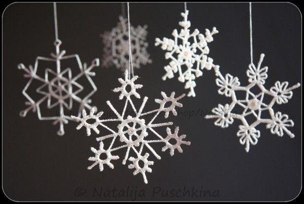 Crochet Pattern Christmas Snowflakes Crochet Crochet Christmas Snowflakes Crochet Snowflake Pattern Crochet Flower Patterns