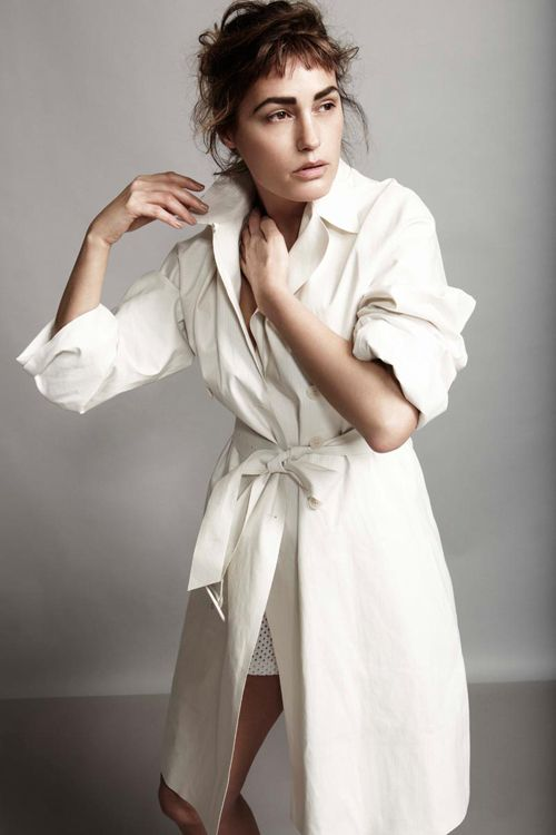 Yasmin le Bon by Robert Harper for Playing Fashion April 2012 as 'Yasmin in White'
