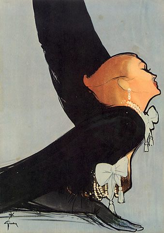 René Gruau 1950 Sphinx