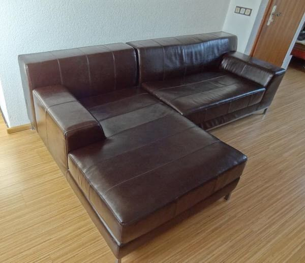 Peachy Ikea Kramfors Ledersofa Ecksofa Bestehend Aus Zwei Home Interior And Landscaping Staixmapetitesourisinfo
