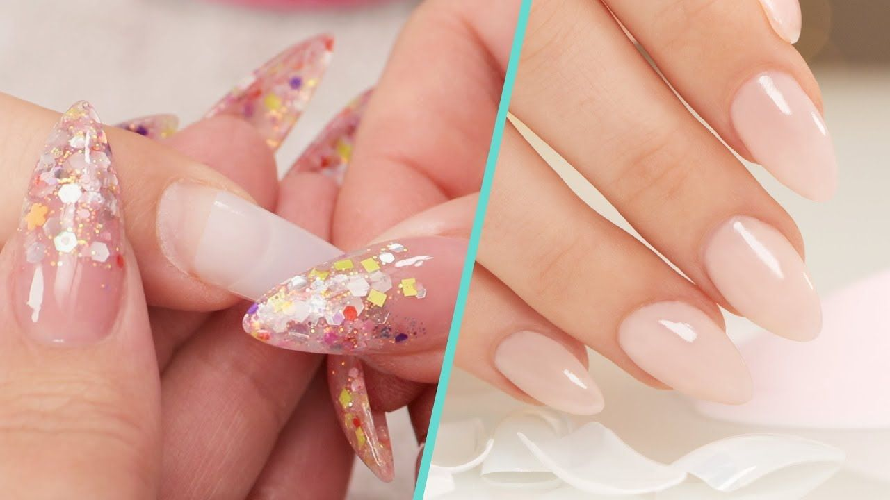 How to apply nail tips with acrylic overlay step by step