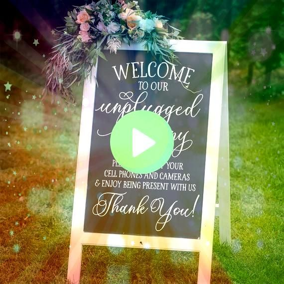 Ceremony Sign Decal  Chalkboard Wedding Sign Decal  DIY Sidewalk Sign  Wedding D Unplugged Ceremony Sign Decal  Chalkboard Wedding Sign Decal  DIY Sidewalk Sign  Wedding...