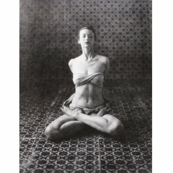 The worlds first supermodel, Dorian Leigh photographed in Baddha Padmasana by Irving Penn in 1946. Then 29 years old and a mother of two Mrs Leigh did no less than six covers for Vogue US that same year.