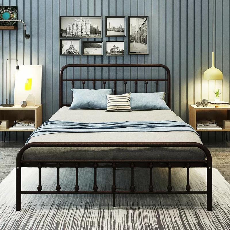 Weldon Platform Bed Metal, Metal Queen Size Bed Frame With Headboard