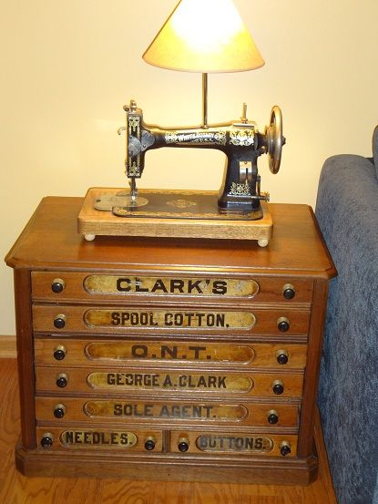 I love my thread cabinet! - Gutterman Sewing Thread Pine Cabinet Vintage Cabinets