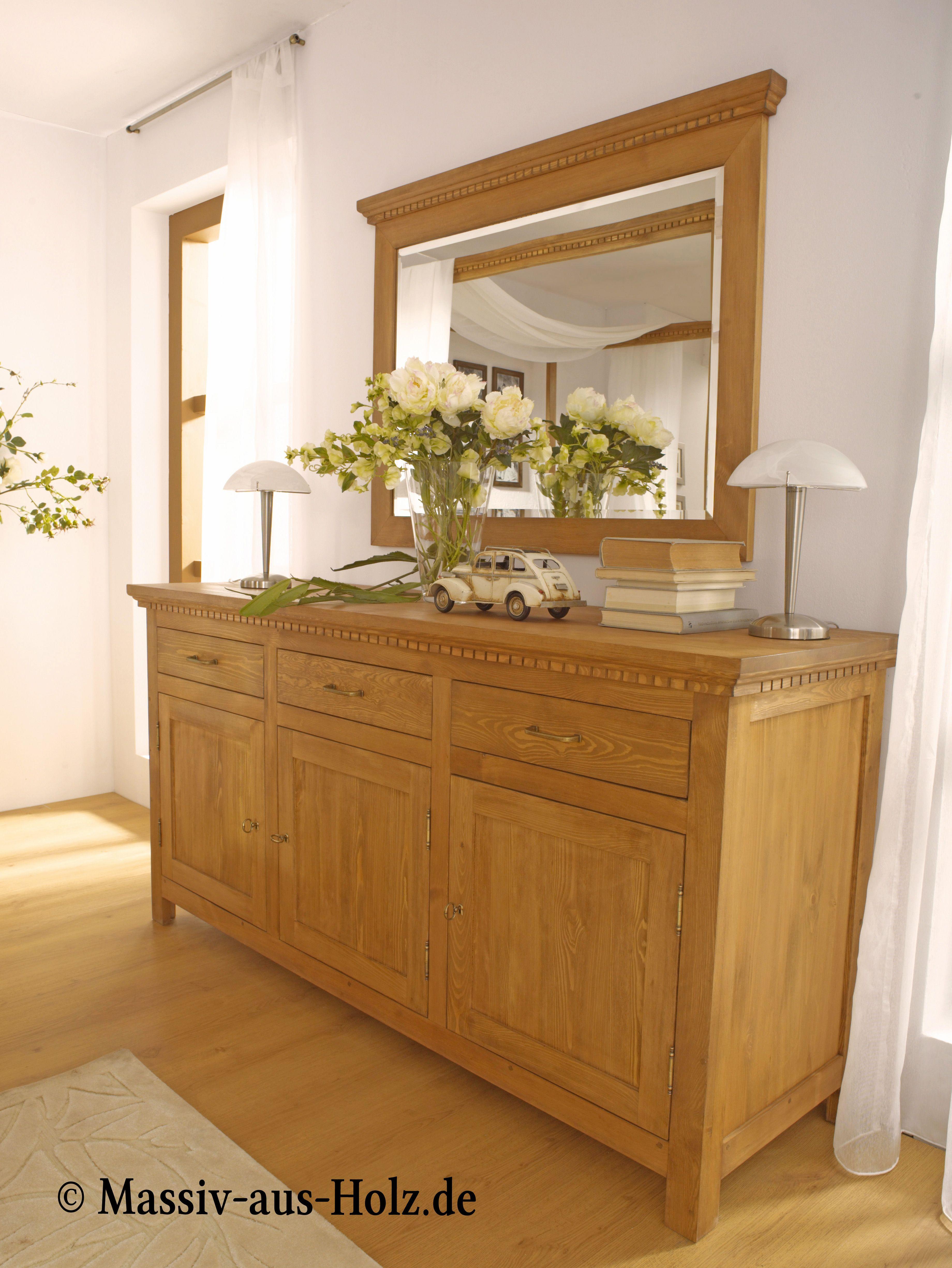 Sideboard Gross Klassisch 3 Turig Mit 3 Schubladen Kiefer Mobel Einrichtungsideen Zuhause