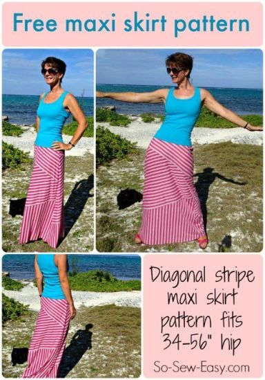 Moved to Tiers striped maxi skirt pattern | Mutti, Upcycling und ...
