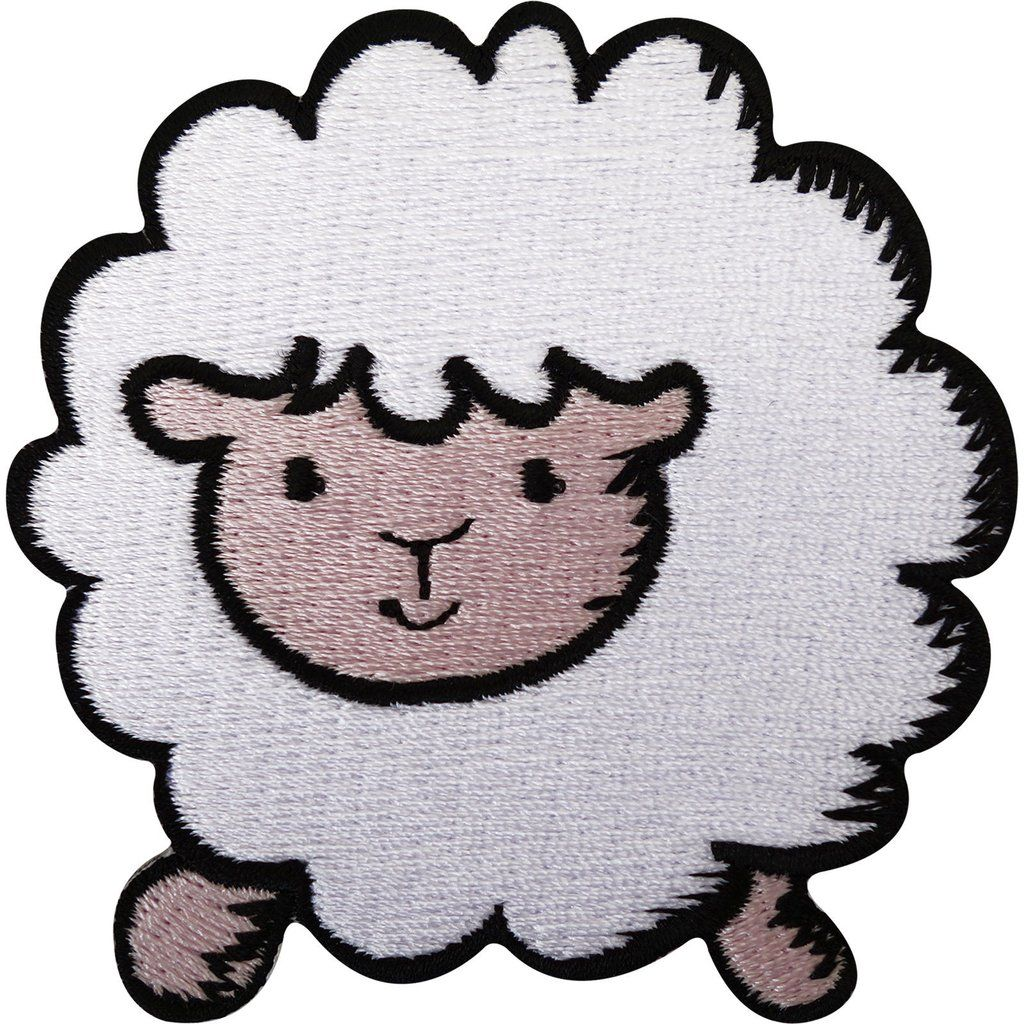 Sheep Patch Embroidered Badge Iron On Sew On Clothing Jacket Coat Bag Jeans Hat