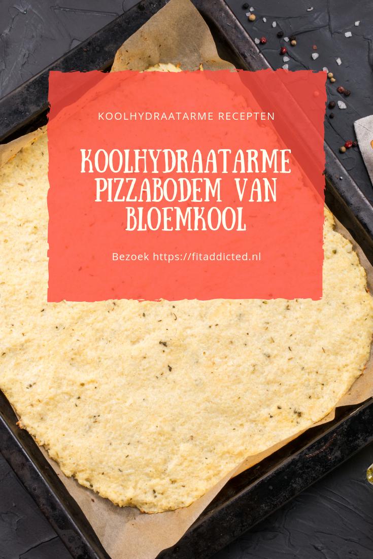 Koolhydraatarme pizzabodem van Bloemkool #gezondeten